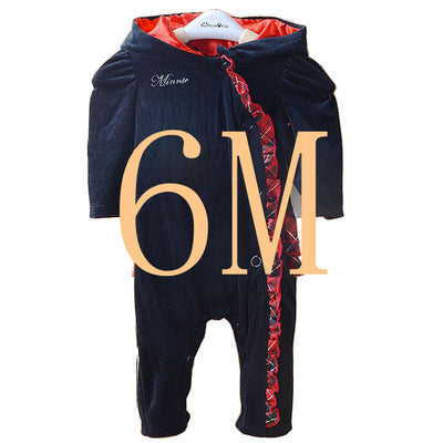 The best quality girl newborn baby winter rompers with hap winter Velvet jacket infant autumn and winter child lace rompers