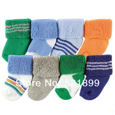 Limited Promotion Socks for Children 8pairs/lot Girls Newborn Socks for 0-6 Months