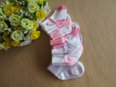 6 pair/lot Baby girl socks Ribbed Cuff Girl Socks 6-Pack 0-6 months