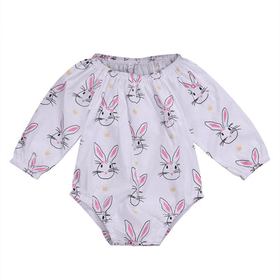 Newborn Baby Girls Romper Long Sleeve Jumpsuit Infant Clothes Outfits Baby Clothing