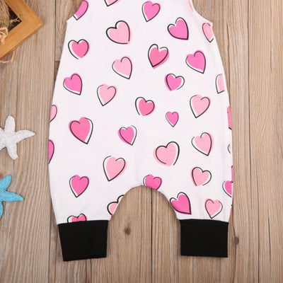 New Newborn Toddler Baby Boys Girl Romper Love Heart Jumpsuit Clothes Outfits