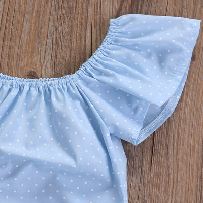 Adorable Newborn Baby Girl Off Shoulder Romper Girls Clothing Jumpsuit Headband Outfits Clothes