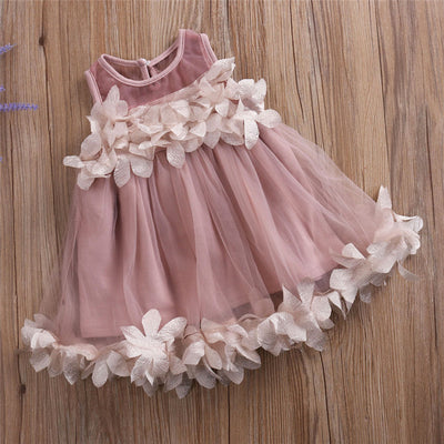 New Arrival Summer Toddler Kids Girls Petal Formal Party Dresses