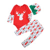 Newborn Toddler Baby Boy Girl Tops Romper Pants Outfits Set Clothes Christmas Baby Clothing