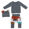 Baby Clothing Sets Spring Autumn Baby Clothes Long Sleeve Coat T-shirt+Pants 2Pcs Suits Elephant Print Children Clothing