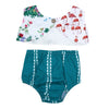 2pcs/set T-shirt Set Baby Clothing Set Summer born Baby Girls Floral Printed Sleeveless Short T-Shirts + Briefs Suit