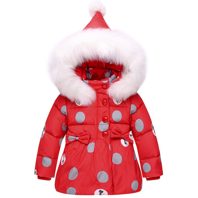 6ee0e12d8 Winter Children Girls Clothing Sets Warm hooded Duck Down Jacket ...