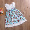 V-Neck Flower Sleeveless Toddler Girl bow knot Dress Princess Party Pageant Wedding Skater Dress