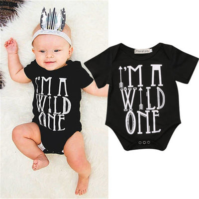 Baby boy romper Summer Style Newborn Baby Boys Girls Kids Short Sleeve Romper Jumpsuit Outfits Clothes Black