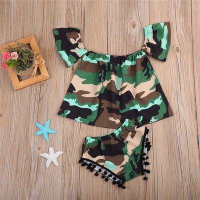 Newborn Baby Girls Tops Pants Set Outfits Summer Clothes