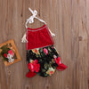 Summer born Baby Girls Cute Feet Romper Flower Tassel Backless Jumpsuit Outfits Clothes Set