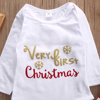 3Pcs Christmas Set !Newborn Baby Girls Long Sleeve Romper +Leg Warmer +Headband Outfit Gift baby clothes set