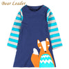 Girls Clothes Striped Printing Design Kids Dress