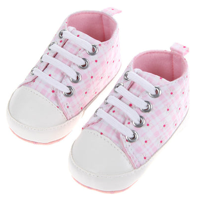 Baby Shoes Girls Boys Fashion Gingham Canvas Shoes For Girls Kids Soft Pre walkers Sneakers Casual Baby Shoes Spring Autumn