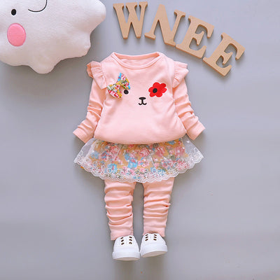 Autumn Baby Girls Clothes Sets Kids Cute Cartoon Clothing Sets Toddler Princess Outfit Costume Children Girls Clothing