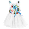 3 Colors Girl Dress Summer Floral Baby Girl Dress Princess Tutu Dress Infant Dresses Kids Clothing With Bow Vest Sundress