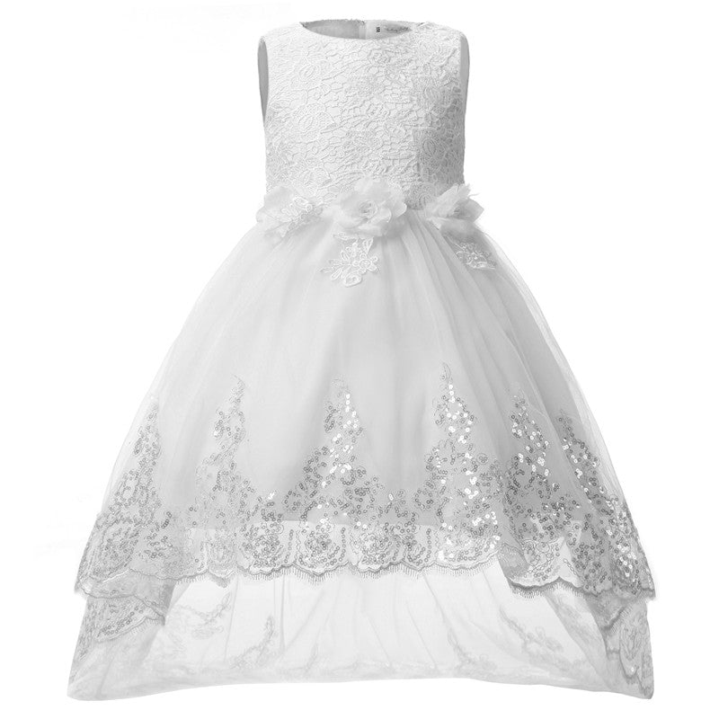a89c1eb22ed1c Kids Girls Party Wear Children Lace Princess Flower Girl Wedding Dress  Teenage Girl Prom Gown 8 10 12 Year Fancy Dress