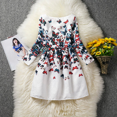 Autumn Teens Girl Dresses For Child Flower long sleeve Formal Girl Dresses Teenagers Party Dress 10 11 12 Years