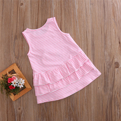 3D Printed Girls Dress Toddler Baby Girl Summer Princess  Party Wedding Dresses Sleeveless A-Line Dress