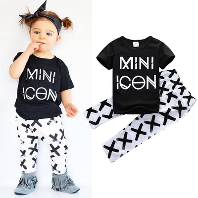 Baby clothing sets boy Cotton Letter short sleeve baby boy clothes
