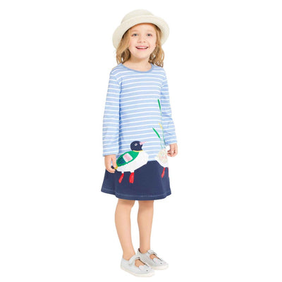 Princess Dresses Baby Girls Dresses for big girl Appliques Cotton Casual Children Dresses Kids casual Clothes