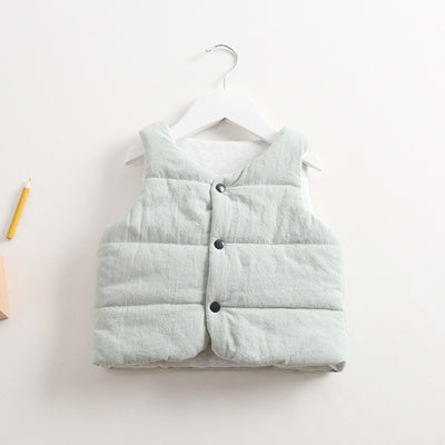 New Outerwear boys Girl cotton Vest Baby Sleeveless Jackets Child Kids Vests For boys Girls kids