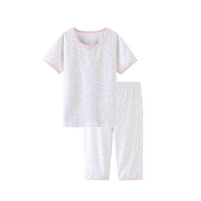 New kids Children's Sets Cotton Baby Girls Short Sleeved Cartoon Sleepwear Kids baby Pajamas Suits