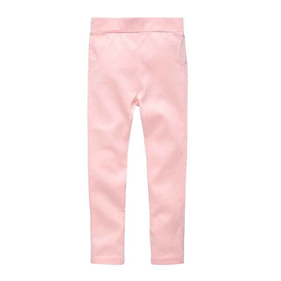 Baby girl leggings slim princess good quality children pocket spring trousers cotton pure pants candy color