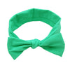 Children Elastic Hair Bands Baby Head wear 9pcs Cute Baby Girls Bow-knot Headbands Bows Solid Color Hair Accessories