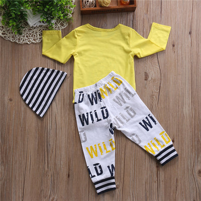 Baby Boy Girls Long Sleeve Hooded Tops Print Pants Kids Baby Boy Girls Clothes  New Arrival Fashion Outfits Set For Newborns