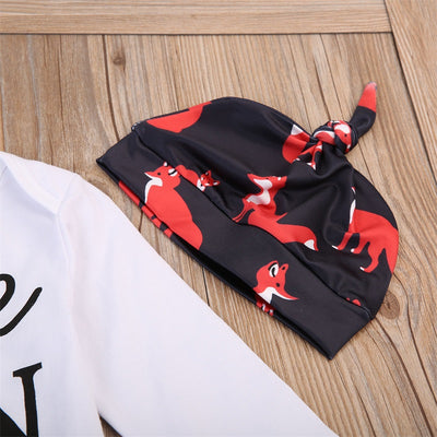 Baby Boys Romper Tops Fox Pants Hat Newborn Baby Clothes Hot 3PCS New Arrival Fashion Outfits Set Clothing For Newborns