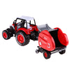 1:32 Engineering Alloy Farm Tractors Trailers Model Engineering Car Truck Harvest Vehicle Toy with Music Lighting Pull Back Car