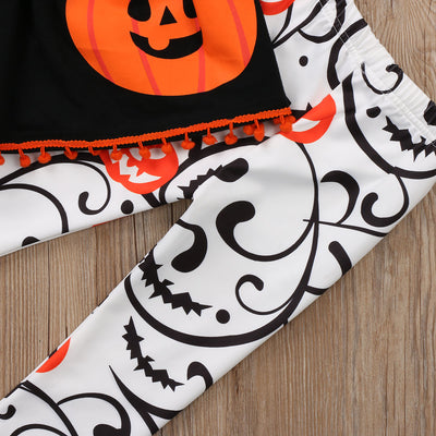 3pcs Newborn Toddler Kids Baby Girl Clothes Long sleeve Pumpkin Top Pant Headband Halloween Children Outfits Clothing Set