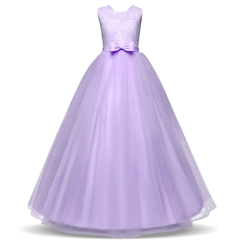 Lace Flower Girl Dresses for Wedding Tulle Princess Party Birthday ...