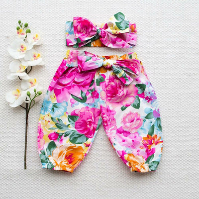 3pcs Toddler Newborn Kids Baby Girl Autumn Clothes Outfit T-shirt Pant Headband