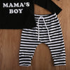Autumn Baby Kids Clothing Set Newborn Baby Boy Romper Tops Striped Pants Hat 3pcs  New Arrival Outfits Clothes Sets