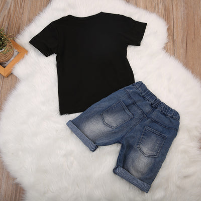 Baby Boy T-Shirt Denim Shorts Toddler Kid Baby Boy Clothes New Arrival Fashion Tops Pants Outfit Set Clothes