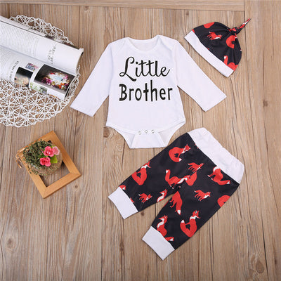 Baby Boys Romper Tops Fox Pants Hat Newborn Baby Clothes New Arrival Fashion Outfits Set Clothing For Newborns