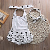 born Romper Baby Girl Infant Clothing 2pcs/Sets Tutu Sleeveless Romper Halter Belt jumpsuit+Headband