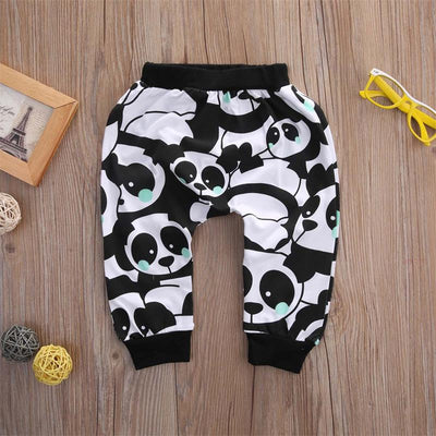 2pcs Cotton Spring Autumn Baby Boy Girl Clothing Sets Newborn Clothes Set For Babies New Boy Clothes Suit Panda Sets