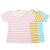 Girls Short Sleeve Striped T-shirt Children Tops Clothes Kids Candy Color Tees