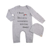 2Pcs Baby Clothing Toddler Infant Baby Boy Girl Cotton Letter Long Sleeve Romper Jumpsuit  Hat Outfit Clothes