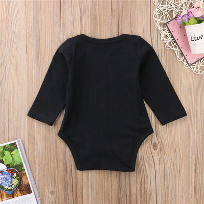 Baby Boy Cotton Romper Newborn Gentleman Long Sleeve Romper Infant Baby Boy Clothing New Year's Jumpsuit Black Clothes