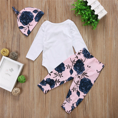 Antumn Girls Clothing Sets New Cotton Fashion Kids Clothes Flower Baby Children Costume Girl Clothes
