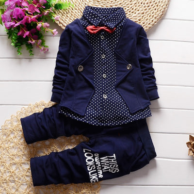 Baby Boys Clothing Set Children Boys Gentleman Style 2 PCs Coat pants Clothes suit kids Boys Tracksuit Clothing Outfits