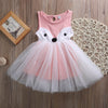 0-5Y Toddler Kids Baby Girls Fox Dress Sleeveless Princess Party Pageant Dresses