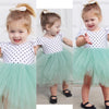 New Girls Dresses Fashion Summer Shell Floral Dot Print Lace crochet Tutu Dress Kids Girl Party Clothes for 2-6Y Children