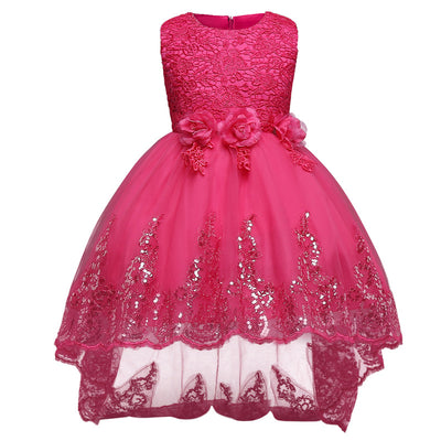Aini BabePrincess Girl Dress Brand  Girls Clothes Ceremonies Party Dresses For Girls Formal Evening Kids Party Wear Dress