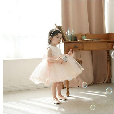 Toddler Baby Tutu Lace Party Dress