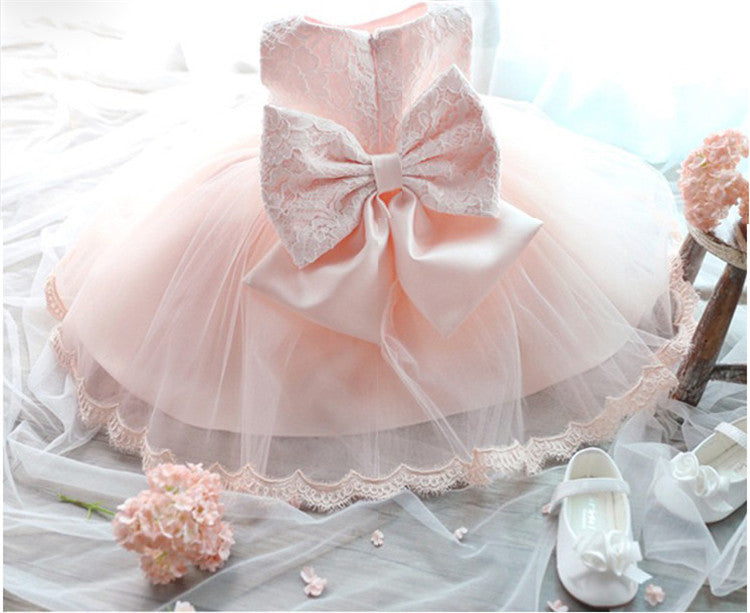f5d5c2834291 Girls Dress For Girl Wedding Party Infant Summer Dress Toddler Baby Dresses  Cute Tutu Lace Girls